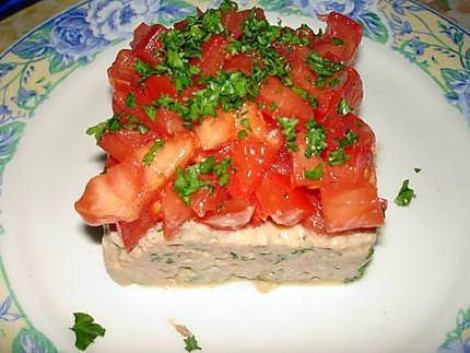 recette de tartare de tomates au thon. Black Bedroom Furniture Sets. Home Design Ideas