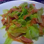 recette concombre saumon en tagliatelles