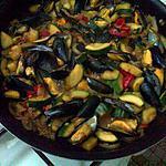 recette Moules aux legumes et riz