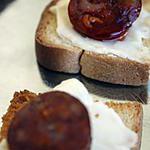 recette Toasts aux chorizo