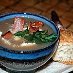 recette Velouté de champignons et bacon
