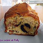 recette Cake aux pruneaux, lardons et bleu de Bresse
