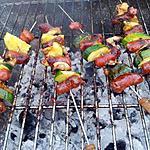 recette Brochettes de merguez et courgettes