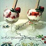 Verrines de fraises au yaourt