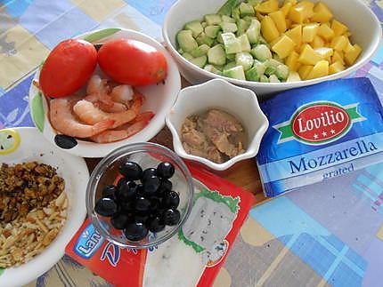 Salade du soleil aux crevettes 430