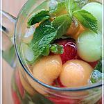 recette ~Boisson pétillante aux billes de melon~