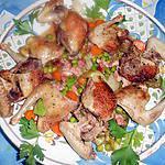 recette Pigeonneaux  aux petits pois à la française