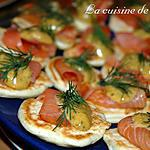 recette Blinis et saumon à l'aneth