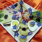 recette Bellerette d'assiette  aux  fleurs de bourrache.