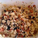 recette salade de choux fleur/chorizo/pamplemousse