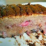 recette Cake léger, sans beurre, fraises pépites de chocolat