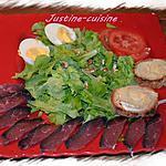 recette Salade de magret séché