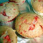 recette Muffins à la noix de coco et pralines roses