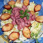 recette Salade de gesiers et croutons de parmesan