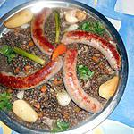recette Saucisses campagnardes aux lentilles du puy