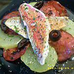 recette salade chaude de rouget et pommes de terre