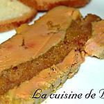 recette Terrine de foie gras au pain d'épices