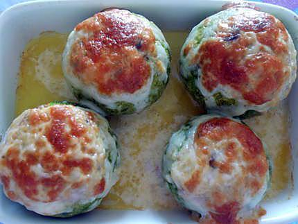 Courgettes farcies aux fruits de mer  430