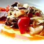 recette Sauté de coeur de porc aux radis noirs