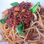 recette mes spaghettis bolognaise au basilic