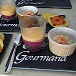 recette mises en bouche salées,cremes fouettées agrémentées betteraves-fromage frais,chorizo et thon..ptites tartelettes:fromages et au saumon fumé