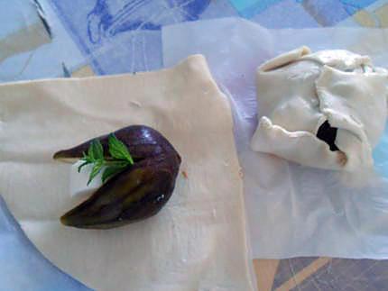 Feuilletés et tartines figues et chèvre 430