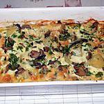 recette Gratin au camembert et aux champignons