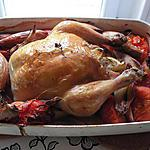 recette Poulet rôti aux échalottes et tomates