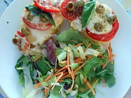Tartines de pomme de terre tomate et mozzarella 430