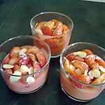 recette petite mousse de fraise et amande éffilées