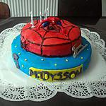 recette gâteaux deux étages spiderman
