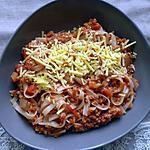 recette Pâtes Bolognaise sans viande