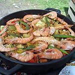 recette Paella aux fruits de mer et poissons.au jardin.