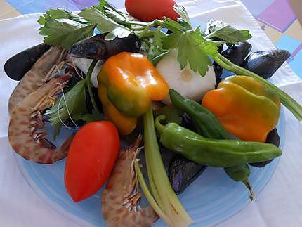 Petite soupe de poisson et crustacés 430