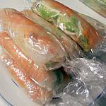 recette Rouleaux de printemps au saumon