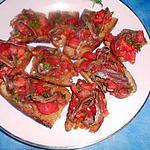 recette Tartines de tomates aux anchois