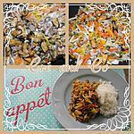 recette Julienne de légumes aux fruits de mer et riz
