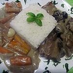 recette Blanquette d'épaule de veau sans os en sauce légumes.