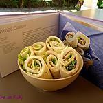 recette Wraps Caesar poulet et parmesan