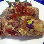 Endives au jambon, sauce tomates, gratinées.
