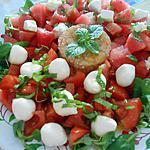 recette SALADE  AUX  COULEURS  DE   L'ITALIE