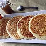 recette Pancakes à la confiture de rhubarbe