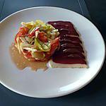 recette salade fraicheur et magret de canard sèché