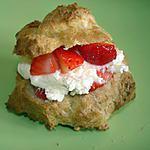 recette Mini choux à la chantilly et aux fraises
