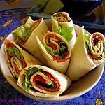 recette Wraps chorizo et tomates séchées