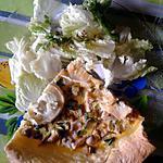 recette Tarte dinde, mozzarella et fromage de chèvre