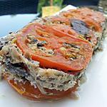 recette Terrine de tomates aux sardines