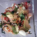 recette salade de pamplemousse rose