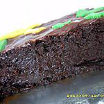 gâteau super fondant au chocolat noir, glaçage au nutella