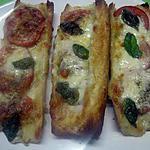 recette Tartines, tomates, mozzarella à ma façon, de peppette.
